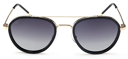 "PRIVÉ REVAUX ""The Connoisseur"" Handcrafted Designer Polarized Aviator Sunglasses For Men & Women - Aviators Face Round For"