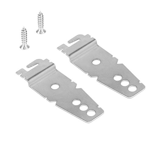 2 Pack Undercounter Dishwasher Bracket Replacement - Whirlpool -Compatible - Compare to 8269145/WP8269145 - Replacement Dishwasher Upper Mounting -