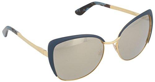 Dolce & Gabbana Women's 0DG2143 Gold/Petroleum/Light Brown Mirror - Mirror Sunglasses And Gabbana Dolce