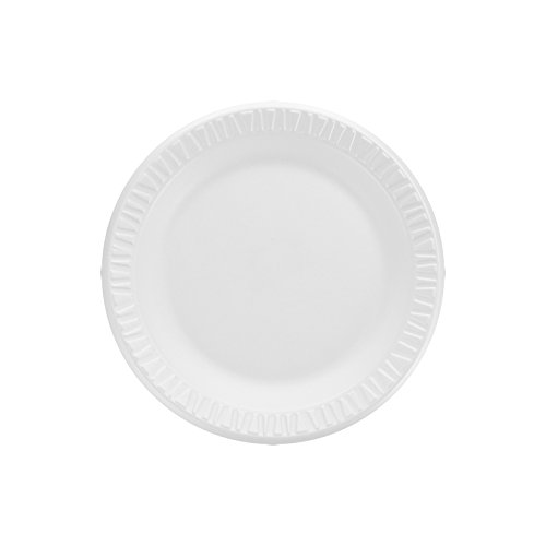 Dart 7PWCR 7 in White Unlaminated Foam Plate (Case of -