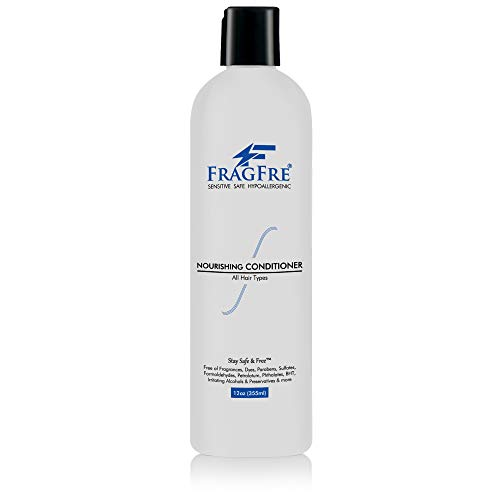 FRAGFRE Fragrance Free Conditioner 12 oz - Parabens Free Hypoallergenic - Hair Conditioner for Sensitive Skin - Deep Conditioning for Normal Treated and Fragile Hairs - Vegan Gluten Free (1 Pack)