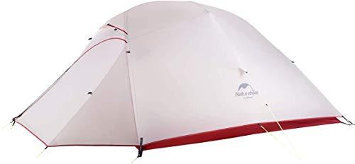 🥇 Naturehike Cloud-up Ultraligero 3 Persona Tienda de campaña Impermeable Doble Capa Camping Tienda de campaña