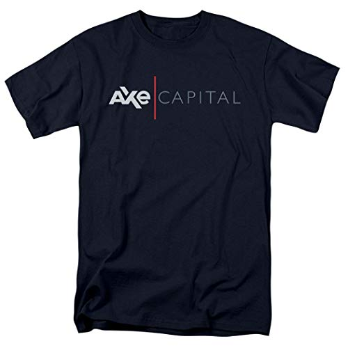 Popfunk Billions Showtime TV Show Axe Capital T Shirt & Exclusive Stickers (Large) Navy