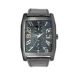 Guess Steel Multi Functions Leather Mens Watch - G96043G