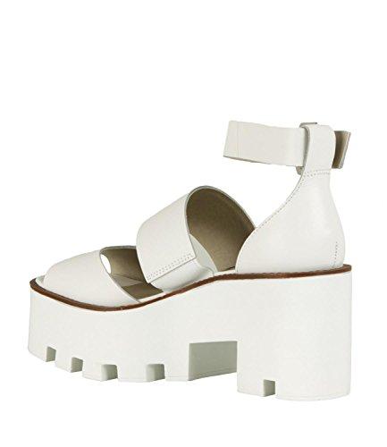 Windsor Smith Puffy, Sandalias con Punta Abierta Para Mujer Bianco (White 001)