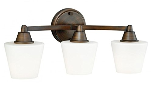 Vaxcel W0102 Calais 3-Light Vanity Light, Venetian Bronze (Collections Light Venetian 3)