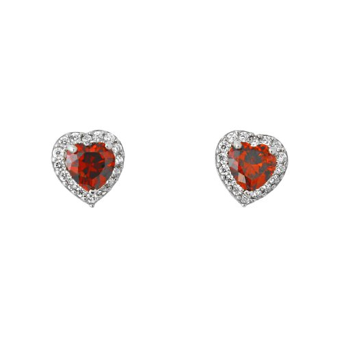 For-Babies-Kids-14k-White-Gold-Cubic-Zirconia-Heart-Halo-Stud-Earrings