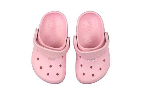 Niños AQUA-SPEED zapatillas flip flop/zuecos muy fácil rosa