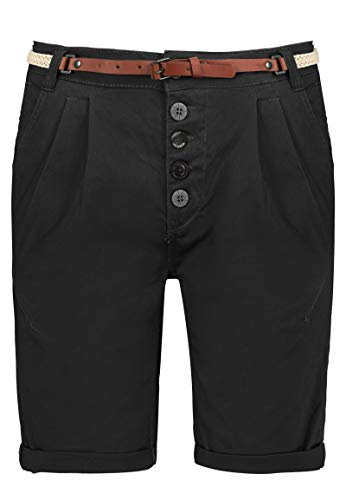 Sublevel Damen Chino Bermuda Shorts mit Knopfleiste