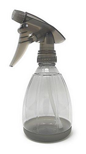 Empty Plastic Spray Bottle 12 Ounce, Smoke Grey, Adjustable Head Sprayer from Fine to Stream