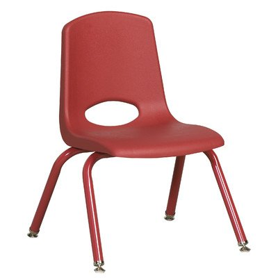 ECR4Kids School Stack Chair with Matching Powder Coated Legs
