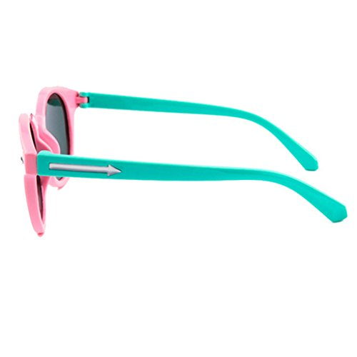 Gafas Childrens Gafas Unisex Gafas Clásicas de Pink Color Sol Sol Shades Arrow Style de Black Pink Lens UV400 8r78qgw