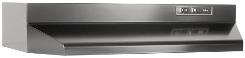 Broan F404223 Two-Speed Four-Way Convertible Range Hood, 42-Inch, Black