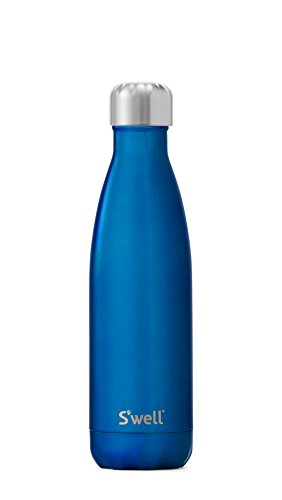 S'well Vacuum Insulated Stainless Steel Water Bottle, 17 oz, Ocean Blue ()