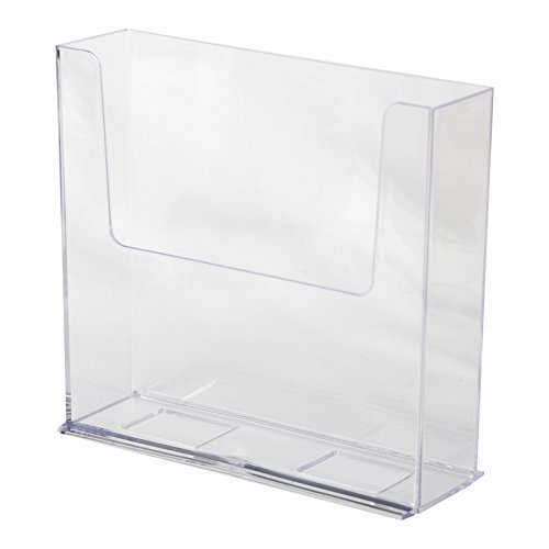"""Clear-Ad - LHF-S150 - Acrylic Free Standing Bifold Brochure Holder Up To 7.5"""" (Pack of 4)"""