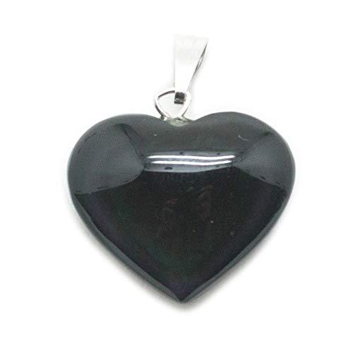 Rainbow Obsidian Goddess Pendant - Rainbow Obsidian Heart Pendant