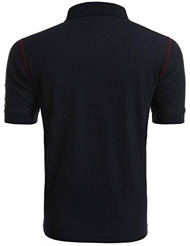 À xxl Wixens Taille C Courtes bleu Homme Casual S L'été Polo Manches shirt Pour T 770RwxU