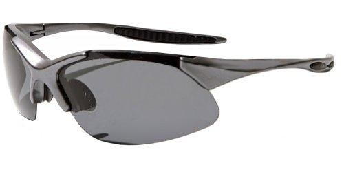 JiMarti JM44 Triad Polarized Sunglasses with 3 lens sets & Case (Gunmetal grey)
