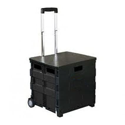 f971cca1893 Amazon.com  Royal Collapsible Heavy-Duty Folding Office Cart with LID  Mobile Utility Filing Cart  Home   Kitchen