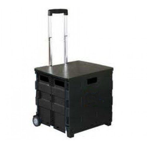 Royal Collapsible Heavy-Duty Folding Office Cart with LID Mobile Utility Filing Cart