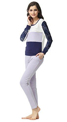 Insun - Pijama - para mujer morado claro