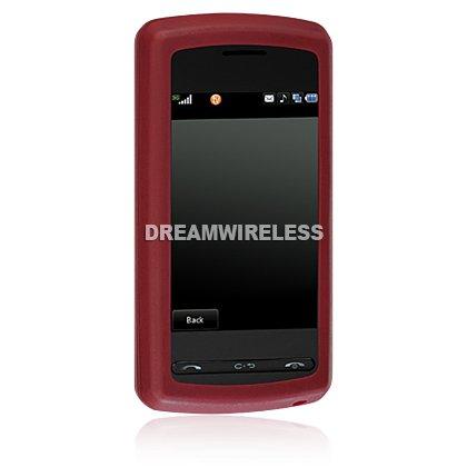 Burgundy Premium Silicone Skin Cell Phone Protector for LG Vu CU920 CU915
