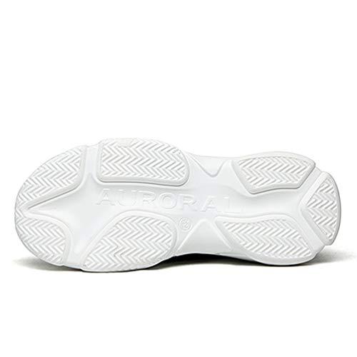 Zapatillas Transpirable Zapatos Zapatos Zapatillas Hombre Blanco Alto En De Deslizamiento Casual Calcetines Unisex Ligeros Zapatillas Punto v0wnFt5
