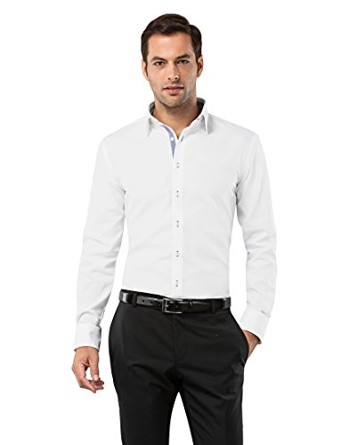 Vincenzo Boretti Mens Shirt contrasts