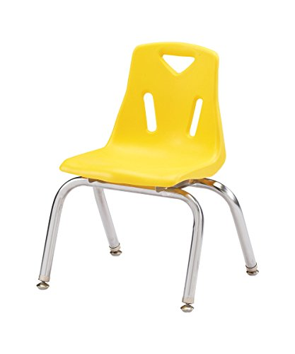 Berries Kids Classroom Stacking Chairs with Chrome-Plated Legs 10