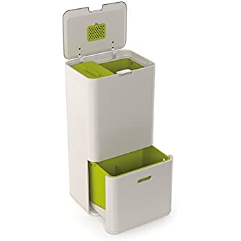 Ordinaire Joseph Joseph 30001 Intelligent Waste Totem Kitchen Trash Can And Recycle  Bin Unit With Compost Bin