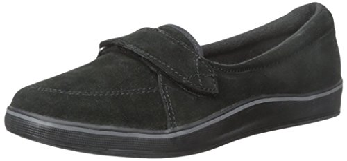 Grasshoppers Damen Shelborne Slip-On Flat Schwarzes Wildleder