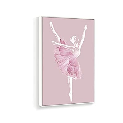 Elegant Pink Ballerina - Canvas Art