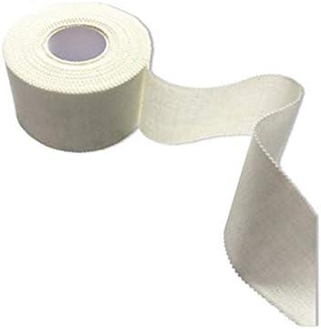 Cinta deportiva de algodón con borde dentado Fisioterapia de tela fina blanca Blanco fijo: Amazon.es: Hogar