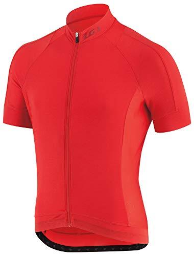 Louis Garneau Men's Lemmon 2 Lightweight, Short Sleeve, Full Zip Cycling Jersey, Flame, Large