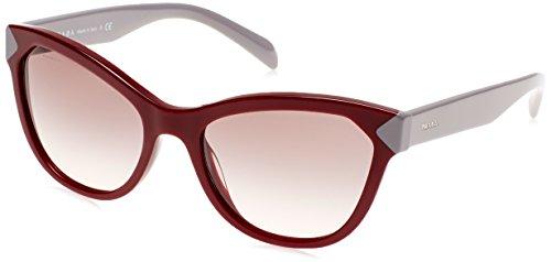 Grey Pink Amaranth Rojo Prada Sonnenbrille 21SS PR Bz6Y1TY
