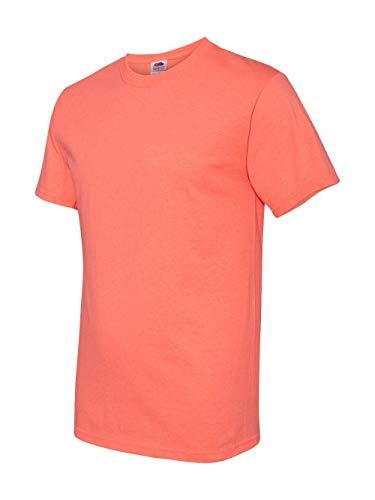 Fruit of the Loom Men's Short Sleeve Crew Tee, XX-Large  - Retro Hth Coral