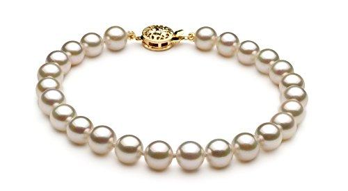 Blanc 6.5-7mm AA-qualité Akoya du Japon-un set en perles