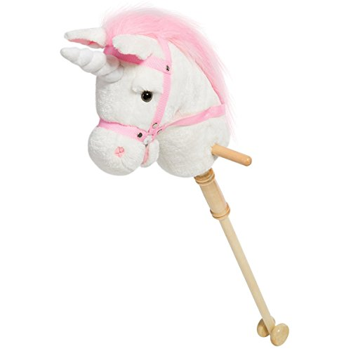 HollyHOME Horse Stick Plush Unicorn Hobby Horse with Sound T
