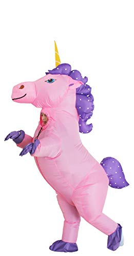 GOPRIME Sale Now !! Unicorn Costume Horn Horse Inflatable Suit (Gold Medium)