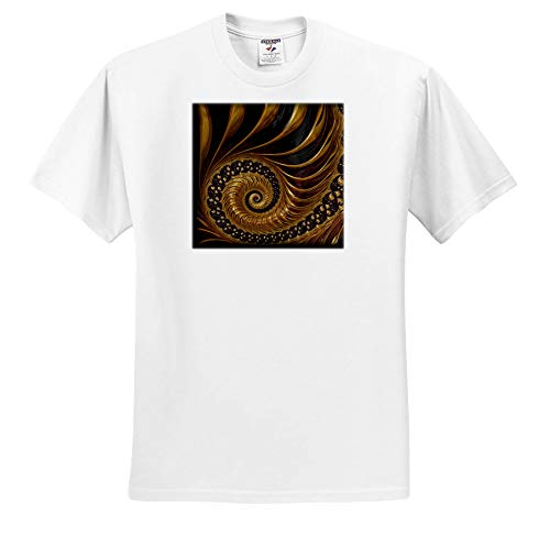 (Andrea Haase Abstract Art and Design - Modern Fractal Spiral Design in Copper and Gold Shades - T-Shirts - Toddler T-Shirt (4T))