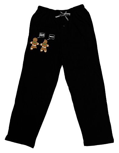 TOOLOUD Funny Gingerbread Conversation Christmas Adult Lounge Pants - Black- ()