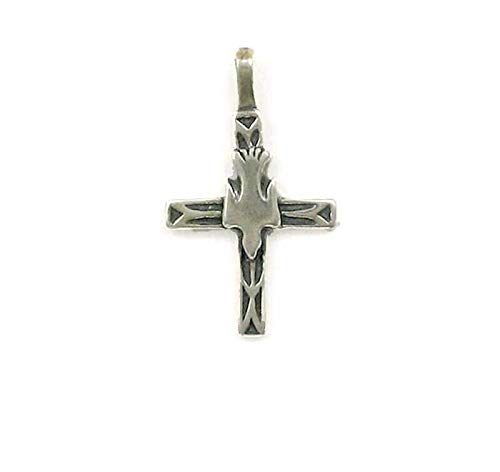Pendant Jewelry Making/Chain Pendant/Bracelet Pendant Sterling Silver Cross w/Dove Charm or Pendant