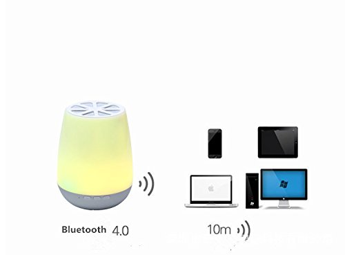 Smart App Control LED Bluetooth Speaker ,HJD Light Night Lamp Colorful Night Lights Hands Free Alarm Clock App Control for Home, Spa, Bedroom, Office by HJD LIght (Image #2)