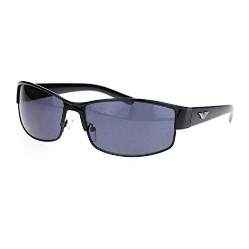 Mens Metal Designer Fashion Narrow Rectangular Luxury Agent Sunglasses All - Agent Secret Sunglasses