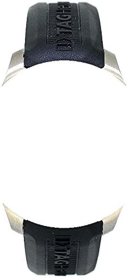20 mm correas de reloj negro silicona caucho plata hebilla para Tag Heuer