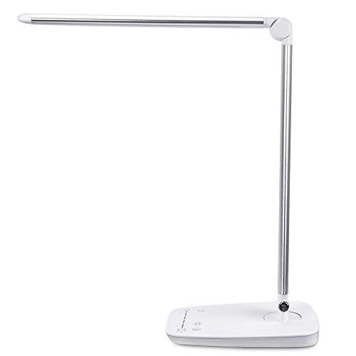LED 14W Tischleuchte Dimmbar Leselampe Schreibtischlampe Büro USB-Ladefunktion
