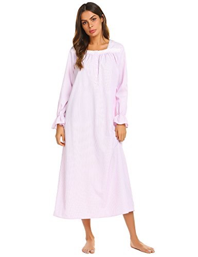 Ekouaer Women's Round Neck Sleepwear Short Sleeve Top with Pants Pajama Set ,8401pink,Medium