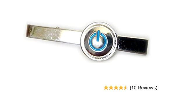 Me Power Reviews >> Power Icon Turn Me On Computer Button Tie Bar Clip