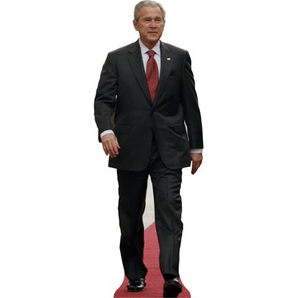 H25043 George W Bush Cardboard Cutout Standup (Bush Cardboard Cutout)