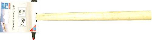 Haromac Fliesenhammer, flach, 75 g, Hartmetallspitze, 05206175